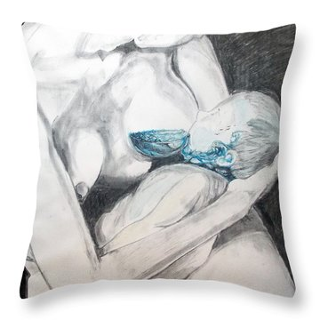 Nurturing The Sea Throw Pillow
