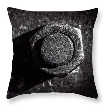 Nut And Bolt Throw Pillow by Bob Orsillo