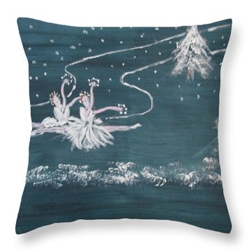 Nutcrackers Dance Of The Snowflakes Throw Pillow