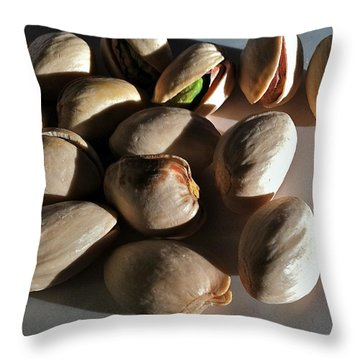 Throw Pillow featuring the photograph Nuts by Bill Owen