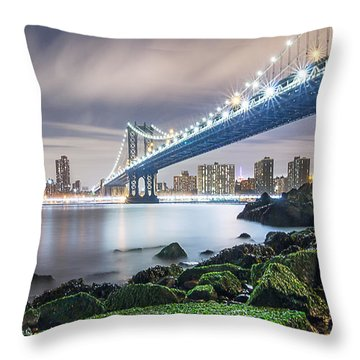 Throw Pillow featuring the photograph Ny Ny by Anthony Fields