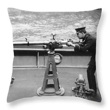 Ny Police Boat Patrol Throw Pillow