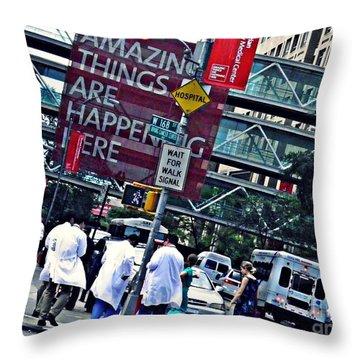 Ny Presbyterian Hospital Throw Pillow by Sarah Loft
