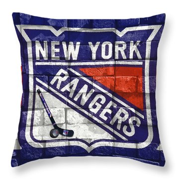 Ny Rangers-2 Throw Pillow