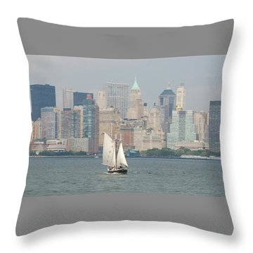 Ny City Skyline Throw Pillow