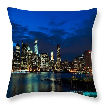 Ny Skyline From Brooklyn Heights Promenade Throw Pillow