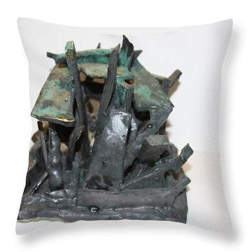Ny Steel Throw Pillow by Jean Macaluso