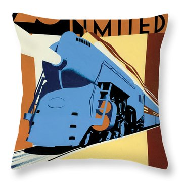 Ny To Chicago Throw Pillow