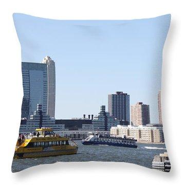 Ny Waterways Throw Pillow by John Telfer