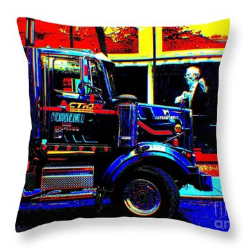 Nyc Christie S Throw Pillow by Rogerio Mariani