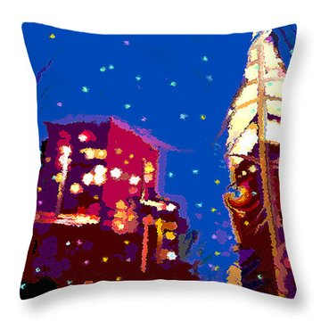 Nyc Holiday Throw Pillow