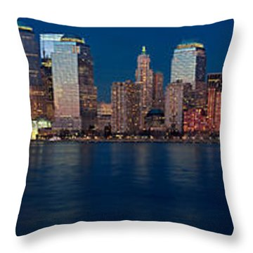Throw Pillow featuring the photograph Nyc Pano by Jerry Fornarotto