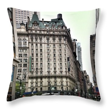 Nyc Radisson Hotel Throw Pillow