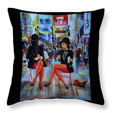 Nyc Red Chairs Throw Pillow