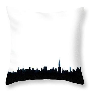 Nyc Silhouette Throw Pillow