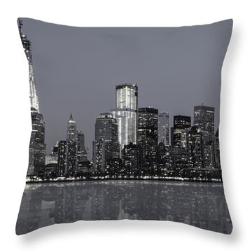 Nyc Skyline Throw Pillow