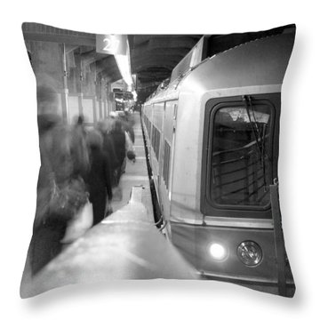 Metro North/ct Dot Commuter Train Throw Pillow by Mike McGlothlen