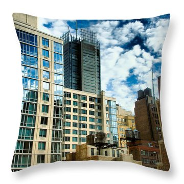 Nyc Urban Hdr Throw Pillow by Amy Cicconi