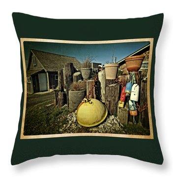 Throw Pillow featuring the photograph Nye Beach Buoys by Thom Zehrfeld