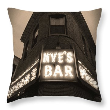 Nye's Bar Sepia V.2 Throw Pillow
