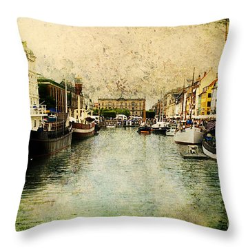 Nyhavn Throw Pillow by Joan McCool