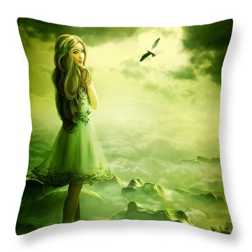 Nymph Throw Pillow by Svetlana Sewell