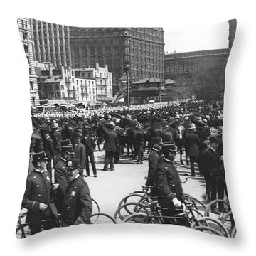 Nypd Bicycle Force Throw Pillow