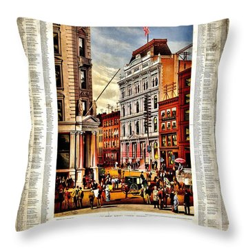 Nyse 1882 Throw Pillow by Benjamin Yeager