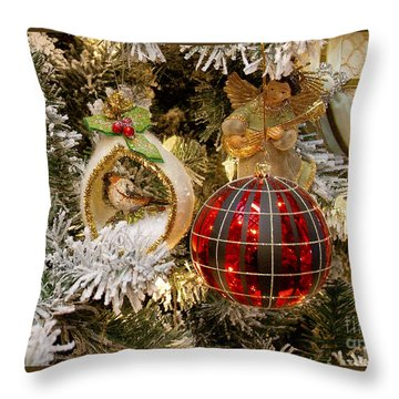 Throw Pillow featuring the photograph O Christmas Tree by Victoria Harrington