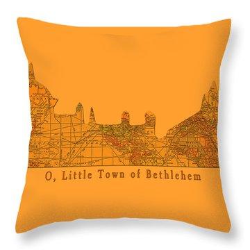 O Little Town Of Bethlehem Throw Pillow by Sarah Vernon