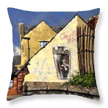O Neils Bar Londonderry  Throw Pillow