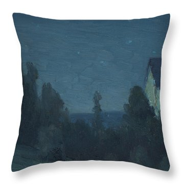 Starry Night  Throw Pillow by Gustave Wiegand