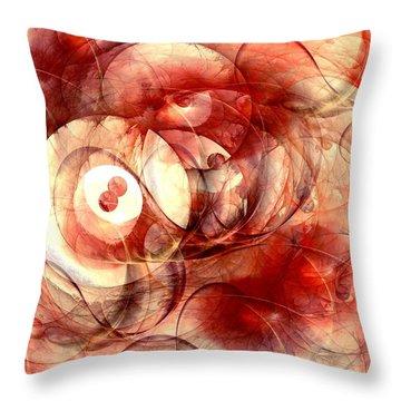 O Positive Throw Pillow by Anastasiya Malakhova