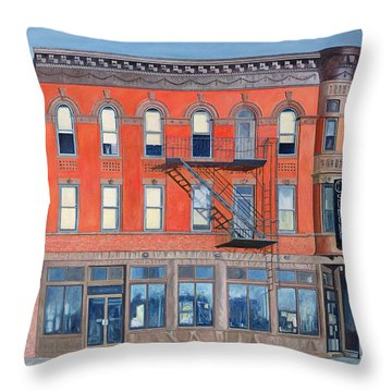 O Sunghai Restaurant West Village Throw Pillow by Anthony Butera