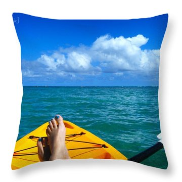 Oahu Toes Throw Pillow