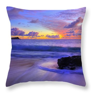 Throw Pillow featuring the photograph Oahu Sunrise by Dustin  LeFevre