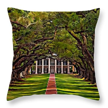Oak Alley II Throw Pillow