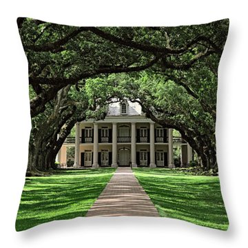 Oak Alley Throw Pillow