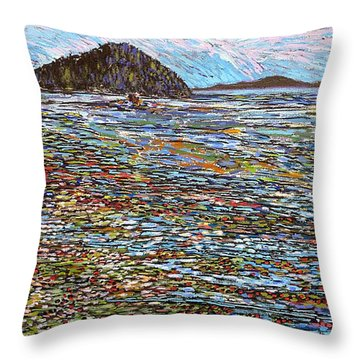Oak Bay - Low Tide Throw Pillow