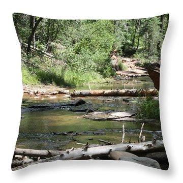 Oak Creek Canyon 5 Throw Pillow by Grant Washburn