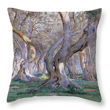 Oak Grove Throw Pillow by Gunnar Widforss
