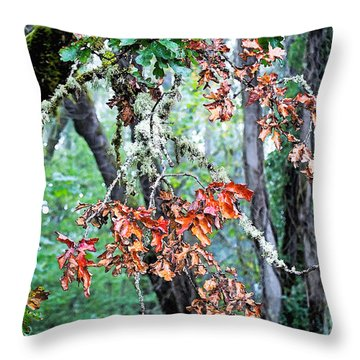 Oak Stories Throw Pillow by Gwyn Newcombe