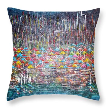 Oak Street Beach Chicago II -sold Throw Pillow by George Riney