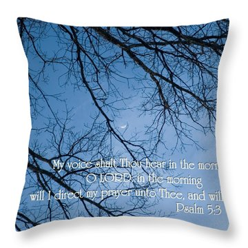 Oak Tree Psalm Throw Pillow