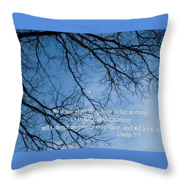 Throw Pillow featuring the photograph Oak Tree Psalm by Denise Beverly