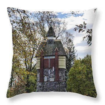Oakbourne Tower Throw Pillow by Judy Wolinsky