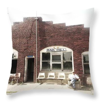 Oakhill Kansas Downtown Throw Pillow