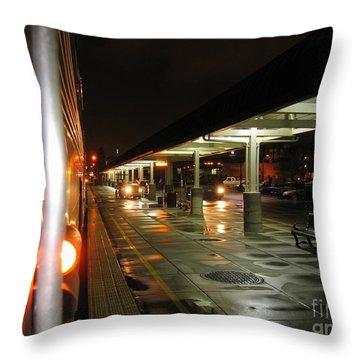 Oakland Amtrak Station Throw Pillow