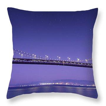 Oakland Bay Bridge Throw Pillow by Aged Pixel
