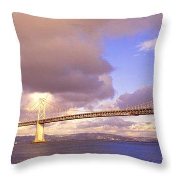 Oakland Bay Bridge San Francisco Throw Pillow